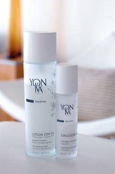 Produkte für reine Haut. Testbericht zu der Yon-Ka Lotion zum Sprühen und das regenerierende Emulsion Pure (bei Pickeln, Unreinheiten, Insektenstichen etc).