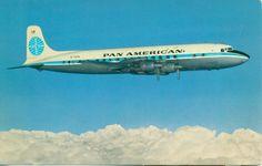 Vintage Pan American Airlines Postcard Pan Am DC-7B Clipper