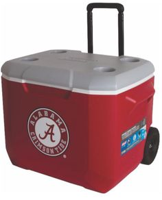 Coleman-NCAA-Rolling-Wheeled-60QT-60-Quart-Big-Cooler-Ice-Chest-Choose-Your-Team