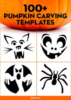 More than 100 pumpkin-carving templates to put the fun in fall: Jack o'lantern 36