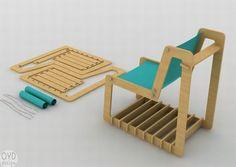OYD Design's flatpack chairs focus on minimum resource usage and maximum function