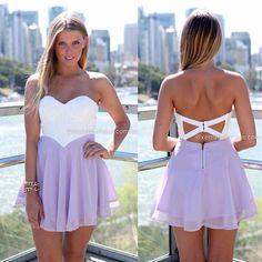 Xenia Boutique - Purple with white