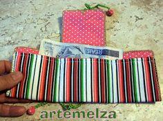 ARTEMELZA - Arte e Artesanato: Carteira de patchwork ou feltro.