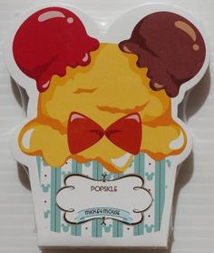 Disney Store Mickey ice cream cup Notepad made in Japan _ image 1