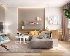 Wenn Sie Auf Der Suche Nach Neuen Wohnzimmer Ideen Sind, Dann Sind Sie Hier  Fündig! Beim Einrichten Spielen Farben Eine Wichtige Rolle. Gelbe Akzente  Sind