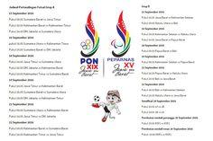 Pertandingan #PON2016 Jawa Barat, cabor futsal sudah mulai dipertandingkan pada Kamis (15/9/2016) di GOR Laga Tangkas Futsal, Jatinangor, Kabupaten Sumedang. Sebanyak 11 provinsi pada babak pertama dibagi kedalam dua grup. Sistem pertandingan yang digunakan pada babak pertama ini menggunakan sistem setengah kompetisi.   Grup A: Jawa Timur, Kalimantan barat, Kalimantan Timur, DKI Jakarta, dan Sumatera Utara.   Grup B: Jawa Barat, Kalimantan Selatan, Maluku Utara, Bali, dan Papua Barat.