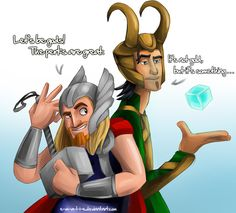 Oh heck yeah. Thor and Loki as Miguel and Tulio. Or is it Miguel and Tulio as Thor and Loki? I dunno, but mixing Thor with Road to El Dorado is the bomb-diggety!!!