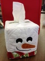 Christmas classics anita goodesigns calla lilly projects for Snowman pocket tissues