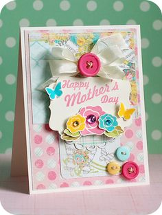 #papercrafting for #MothersDay - a lovely #card! Lea Lawson for Wplus9 featuring Mother's Day Bouquet stamp set.