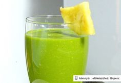 Ananászos zöld smoothie Honeydew, Cantaloupe, New Tricks, Pcos, Healthy Drinks, Smoothies, Paleo, Pineapple, Vitamins