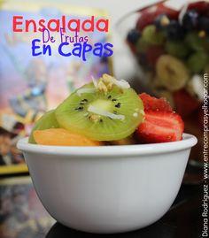"""Deliciosa Ensalada de Fruta en Capas, Inspirada en la Nueva Película de Disney """"The Pirate Fairy"""" #HadaPirata"""" #ad #PirataFairy"""