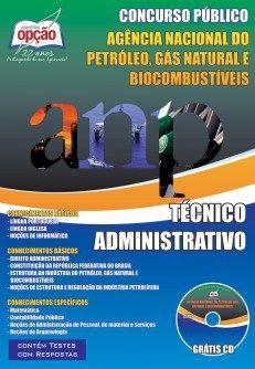 Apostila ANP 2015 Técnico Administrativo (Download, Digital, PDF, Impressa)