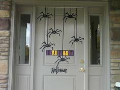 Create this fun Halloween door display with the Designers Calendar cartridge! #Cricut