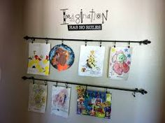 Image result for kids art display ideas