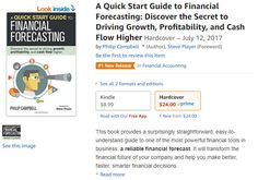 Nice to see my new book, A Quick Start Guide to Financial Forecasting: Discover the Secret to Driving Growth, Profitability, and Cash Flow Higher, hitting the #1 New Release at Amazon in the financial accounting category. It's the little things in life that make it fun. :-)