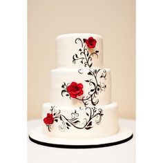 Hand painted Black and White Wedding Cake - trying to find the original!