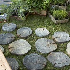 Pas japonais en pierre reconstituée Stonewood, imitation bois