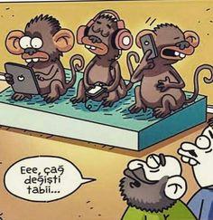 Eee, çağ değişti tabii...  #karikatür #mizah #matrak #komik #espri