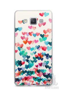 Capa Samsung A5 Corações Coloridos - SmartCases - Acessórios para celulares e tablets
