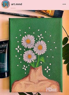 aesthetic painting aesthetic painting, To obtain you started, we've compiled these list DIY canvas painting ideas. Easy Canvas Art, Simple Canvas Paintings, Small Canvas Art, Cute Paintings, Mini Canvas Art, Diy Canvas, Acrylic Painting Canvas, Canvas Ideas, Small Art