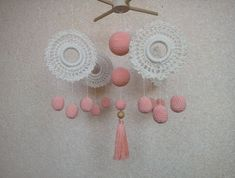 Crochet mobile, Macrame baby mobile
