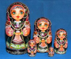 "Russian Nesting Doll ""Kniagna"" Princess Matryoshka"