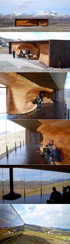 Snohetta's Wild Reindeer Centre Pavilion, Hjerkinn on the outskirts of Dovrefjell National Park, Norway. Gorgeous.