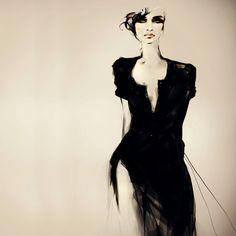Fashion Illustrations Joanne Young 2 Illustrations par Joanne Young : Poétiquement Mode
