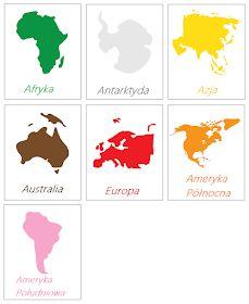MĄDRE DZIECI: Kontynenty i ich wielkość - Montessori Montessori Materials, Montessori Activities, Toddler Activities, Continents Activities, Map Activities, 3 Year Old Activities, Geography For Kids, Disney Classroom, Primary Teaching
