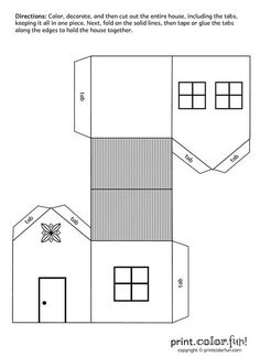Download and print your page here!-For 3 pigs houses