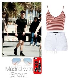 """Shawn Mendes"" by leisharomano ❤ liked on Polyvore featuring SPANX, Heidi Klum, Topshop, LE3NO, Casetify and Ray-Ban"