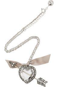 Swarovski crystal cupid's arrow necklace / Lanvin