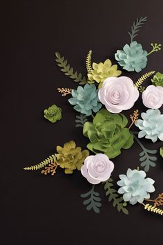 Paper succulents and flowers...no cutting needed! Find the kit @ClosetoMyHeart #ad