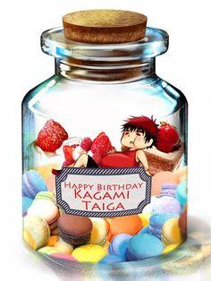 Tags: Anime, Pixiv Id 2265614, Kuroko no Basuke, Kagami Taiga, Cream, Bottle, In a Bottle
