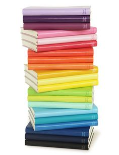Rainbow notebooks! Found on Write in Color blog; made by Paper Thinks