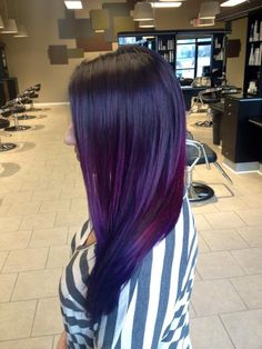 """Fluid Violet"" - by Jacquelyn Marie Hastings / miss my purple hair! Violet Hair, Purple Hair, Ombre Hair, Turquoise Hair, Corte Y Color, Natural Hair Styles, Long Hair Styles, Dream Hair, Love Hair"