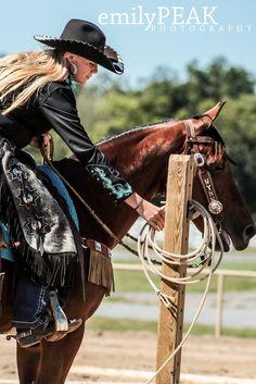 #Cowgirl #Chic #Chaps #emilypeak