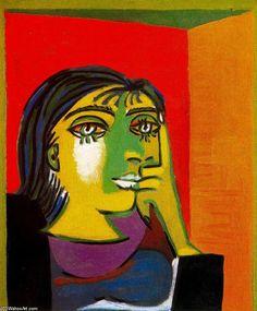 Pablo Picasso >> Portrait of Dora Maar 1