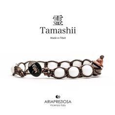 Tamashii - Bracciale Tradizionale Tibetano Agata Bianca