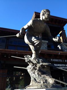 Statue of Mammoth founder Dave McCoy