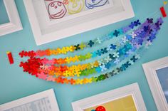 paint chip color rainbow garland