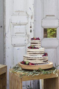 Chocolate, Mango & Lime Wedding Cake with Berries