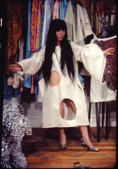 Yayoi Kusama - Art & Installation - Pop Art - A Happening and Fashion Show at Kusama's Studio in New York, 1968 Andy Warhol, Yayoi Kusama, Fashion Art, Fashion Show, Fashion Design, Pop Art, Psychedelic Colors, Feminist Art, Arte Popular
