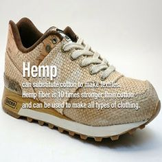 Hemp can substitute cotton to make textiles. Hemp fiber is 10 times stronger than cotton and can be used to make all types of clothing. Save Our Earth, Save The Planet, Cannabis, Organic Brand, Hemp Fabric, Eco Friendly Fashion, Bag Making, Fun Facts, Random Facts