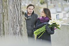 """Beauty and the Beast -- """" -- Pictured (L-R): Jay Ryan as Vincent and Kristin Kreuk as Catherine — Photo: Sven Frenzel/The CW -- © 2013 The CW Network, LLC. All rights reserved. Saga, Film Su, Cast Images, Vincent And Catherine, Beauty And The Best, Anniversary Pictures, Jay Ryan, Cw Series, Cinema"""