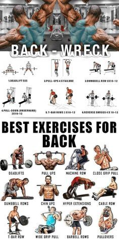 Good Back Workouts, Chest Workouts, Back Workout For Mass, Chest Exercises, Weight Training Workouts, Gym Workout Tips, Traps Workout, Workout Fitness, Academia Fitness