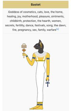 Bastet Goddess, Gods And Goddesses, Mythology, Egyptian, Cats, Fictional Characters, Draw, Gatos, Kitty Cats