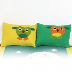Owl Patch Matching Pillow Covers (1 Pair)