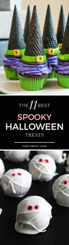 The 11 Best Halloween Treats halloween snacks recipes Halloween Desserts, Halloween Cupcakes, Spooky Halloween, Essen Halloween Party, Happy Halloween, Halloween Backen, Theme Halloween, Hallowen Food, Halloween Goodies