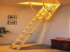 The Incredible Attic Stairs Design Retractable Stairs Design For Atticwould Love To Have This is one of the pictures that are related to the picture before Attic Stairs Pull Down, Folding Attic Stairs, Attic Doors, Attic Staircase, Garage Attic, Loft Stairs, Attic House, Attic Ladder, Attic Loft